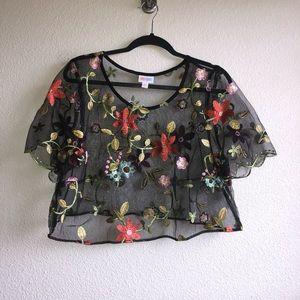 EUC LuLaRoe Top Half of Deanne Dress
